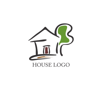 Vector Drawing House Logo Inspiration Download Vector Logos Free