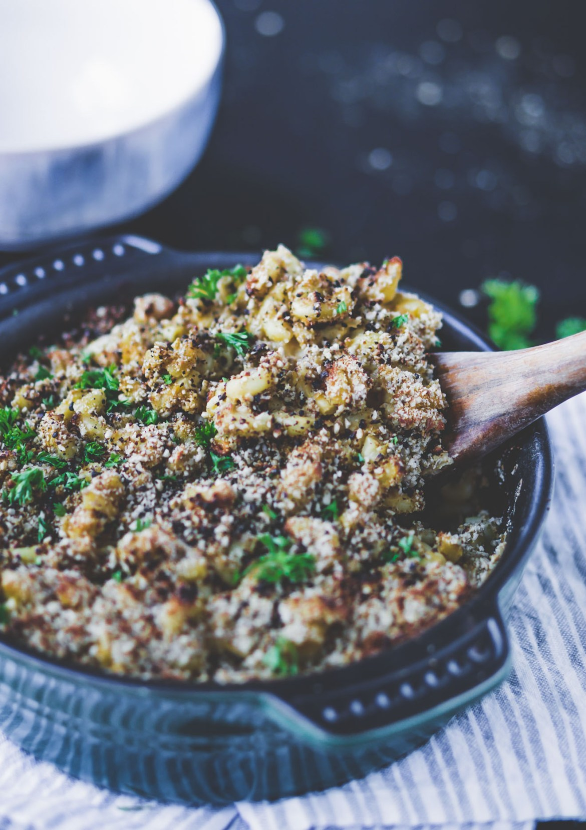 Vegan Mac and Cheese with Parsley
