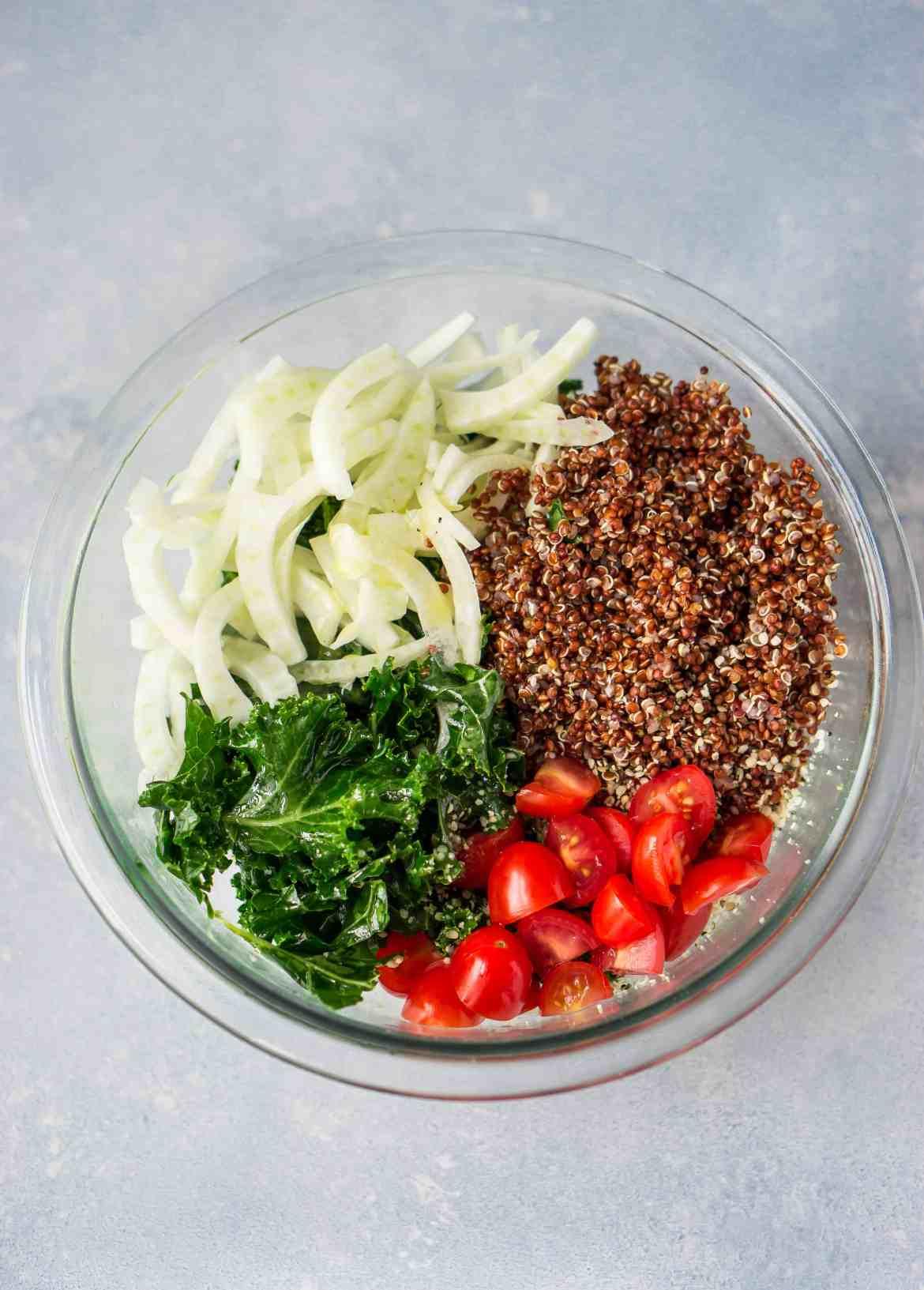Kale & Red Quinoa Salad