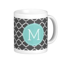 custom monogram Moroccan coffee mug