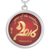 year of the monkey pendant and necklace