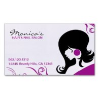 elegant hair salon business cards purple
