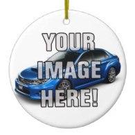 subaru sti car themed christmas ornaments
