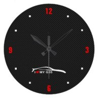 infiniti g35 coupe wall clock jdm