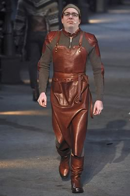 Butchers Apron as Fashion Statement By Alexander McQueen