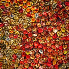 Kitchen Wall Art Backsplash Lighting At The Armory Show: Installations By El Anatsui [food ...
