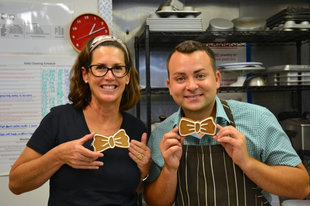 Alex from Yum Yum Truck and Karen from Whisk and Bowl with Bow Tie Cookies