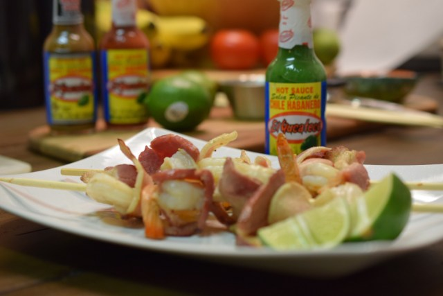 El Yucateco Hot Sauces Bacon Wrapped Shrimp Final #KingOfFlavor #CollectiveBias #Shop