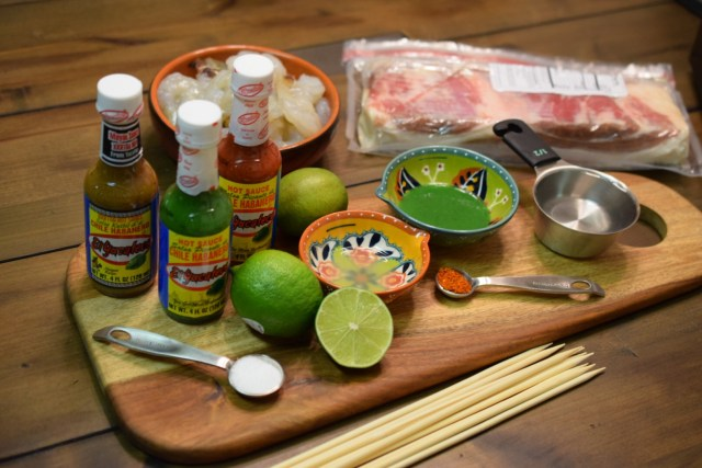 El Yucateco Hot Sauces Bacon Wrapped Shrimp Ingredients  #KingOfFlavor #CollectiveBias #Shop