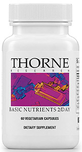 Image of bottle of Thorne Research Basic Nutrients.