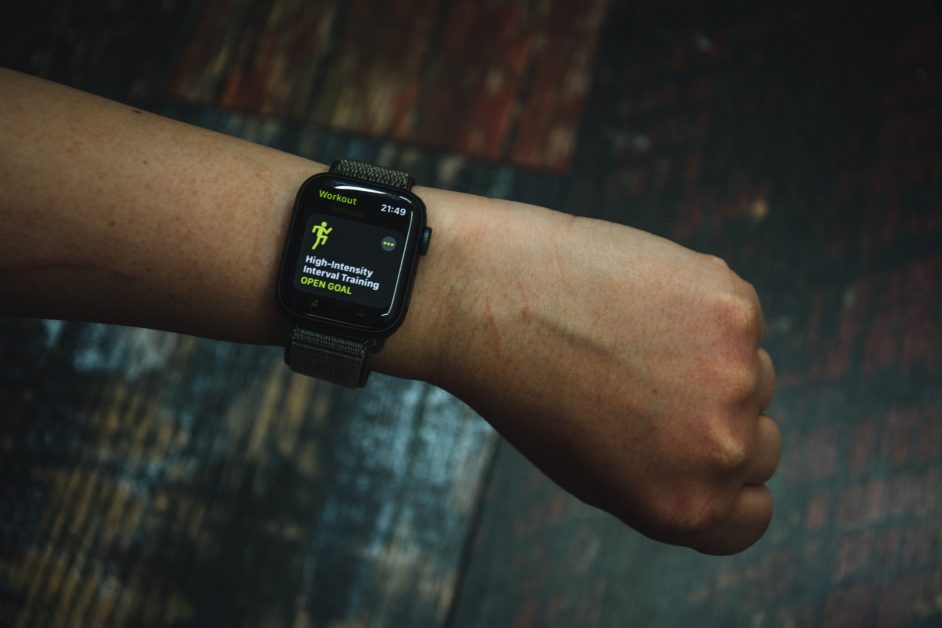Guy Wearing Apple Watch