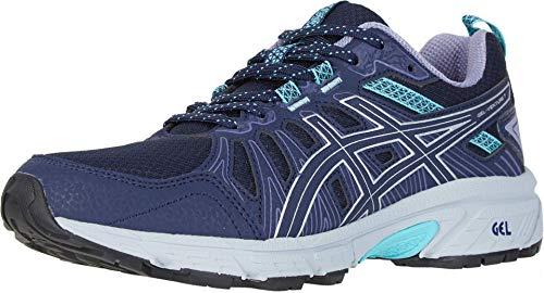 ASICS Women's Gel-Venture 7 Running Shoes, 9, Black/Silver