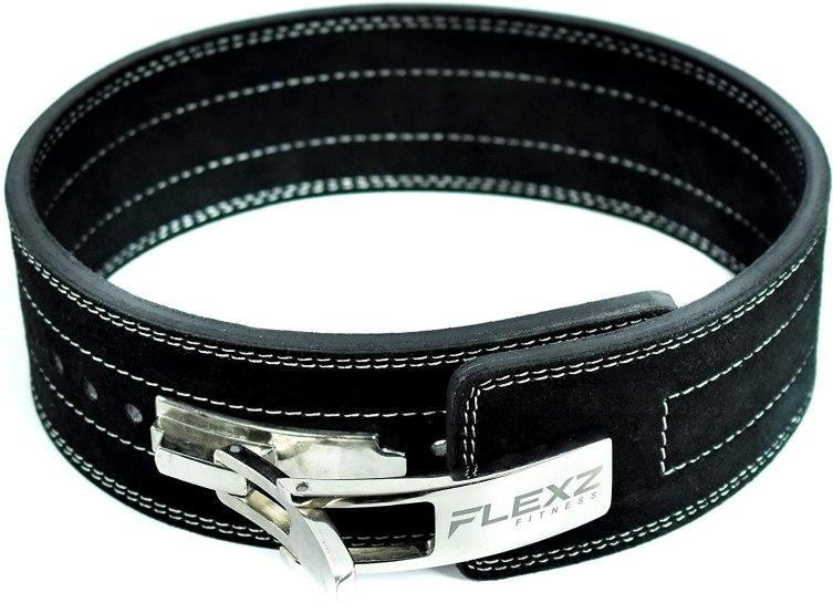 FlexzFitness Leather Power Lifting Belt