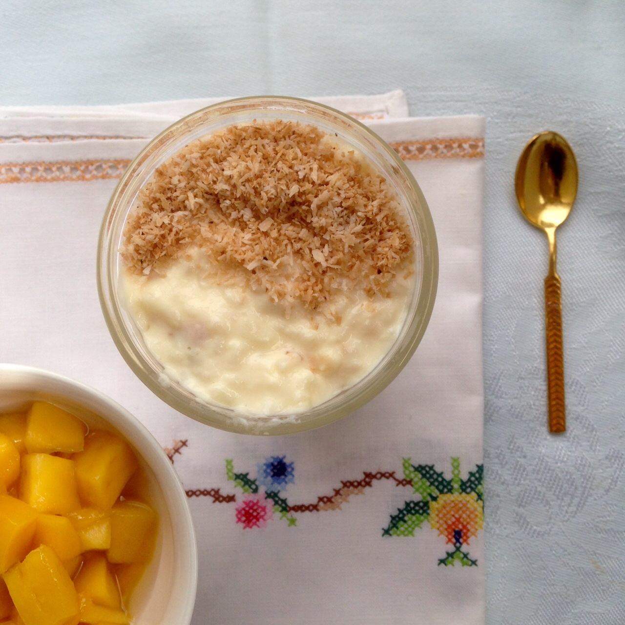 Creamy Rice Pudding Recipe with Coconut and Mango ...