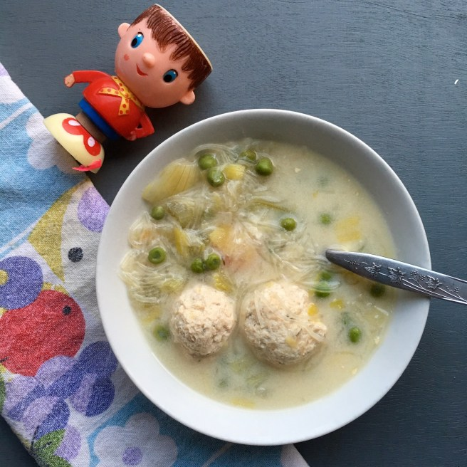 chicken noodle soup recipe with meatballs