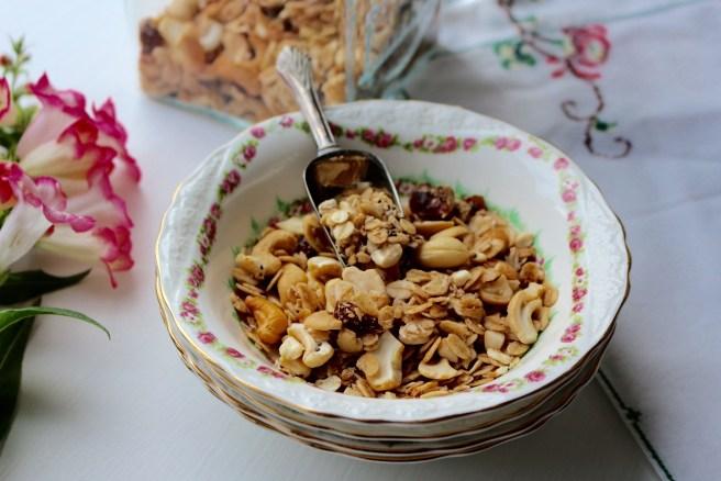 home made almond & honey muesli recipe