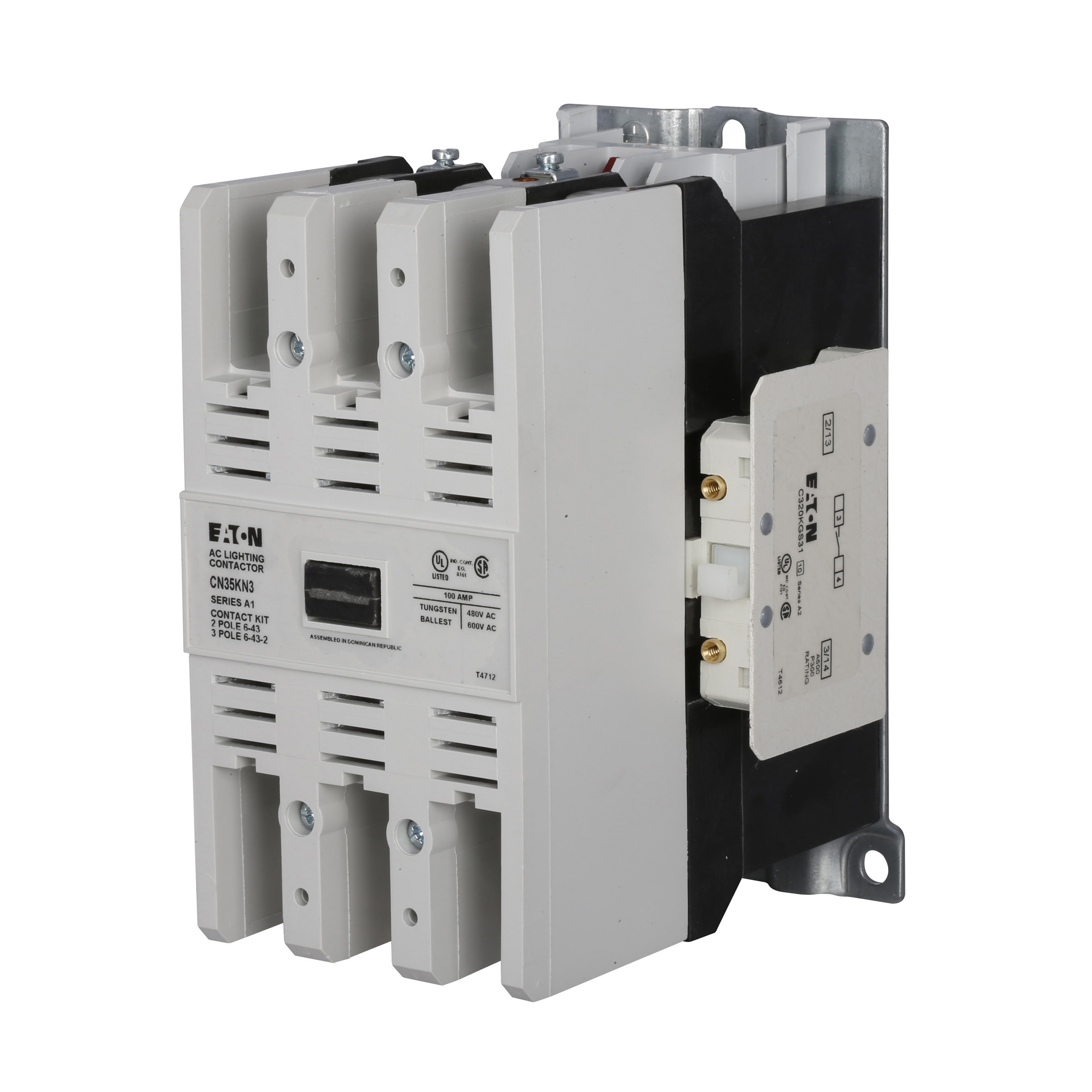 cn35 electrically held lighting contactors eaton
