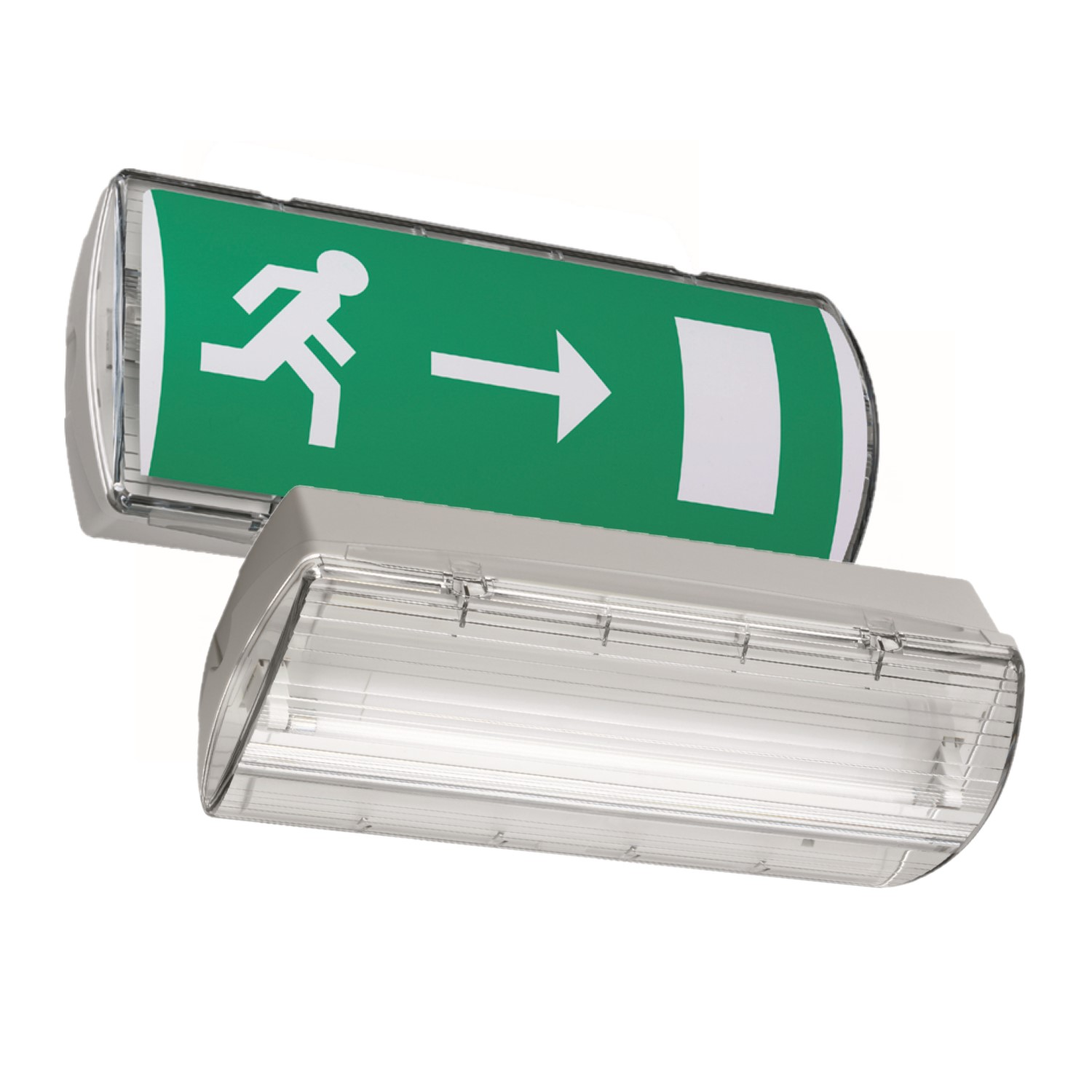 hight resolution of go to atlantic self contained safety exit sign