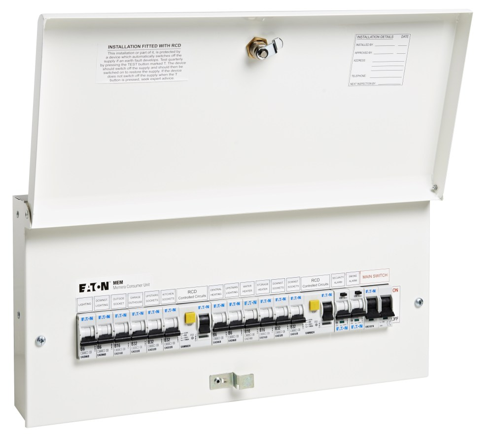 medium resolution of eaton s new full metal consumer units comply with 17th edition wiring regulations amendment 3
