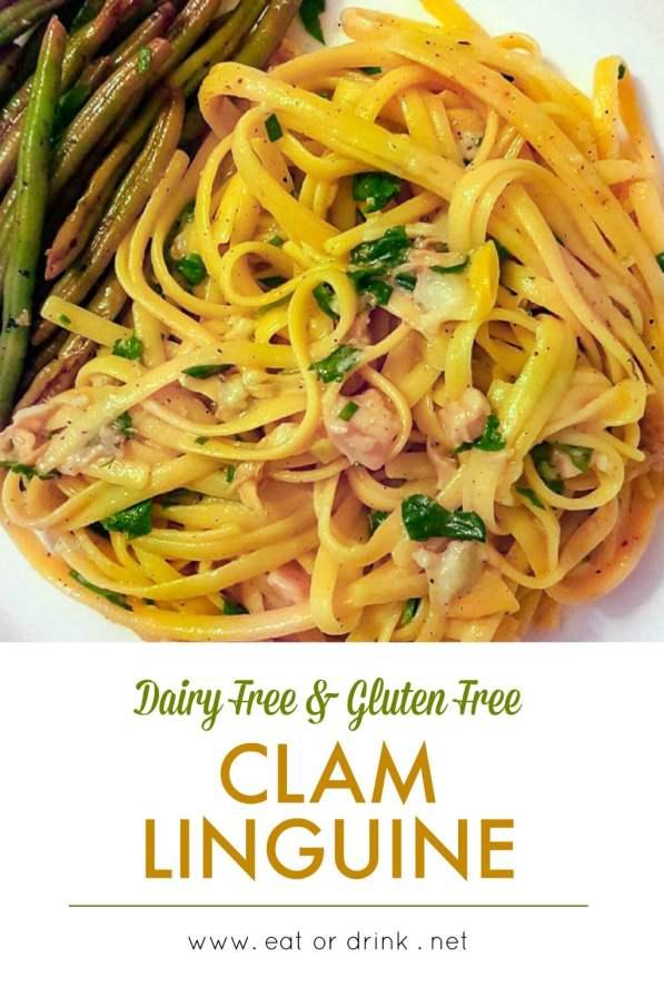 dairy free clam linguine