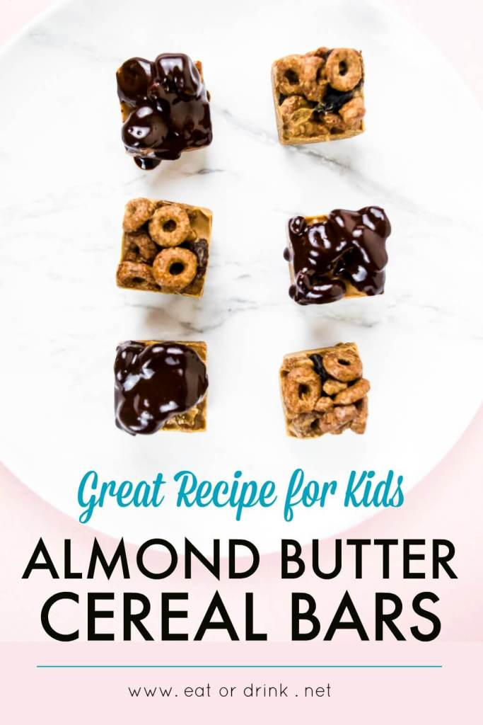 almond butter cereal bars kid friendly recipe