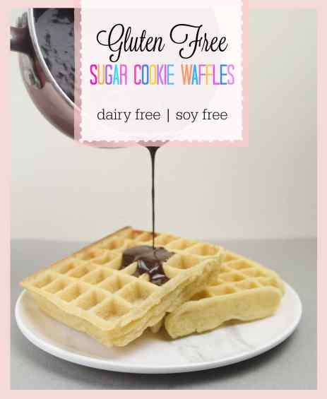 gluten free waffle photo with text