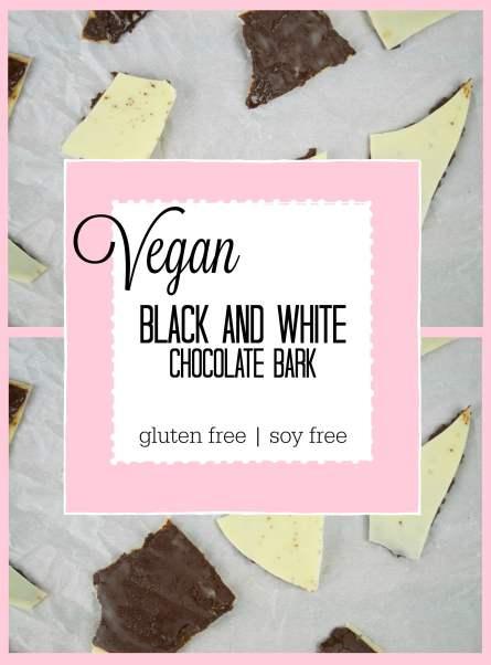 vegan black and white chocolate bark