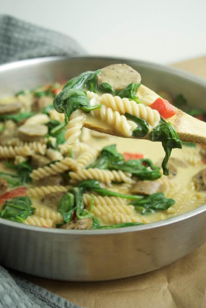 healthy pasta dinner