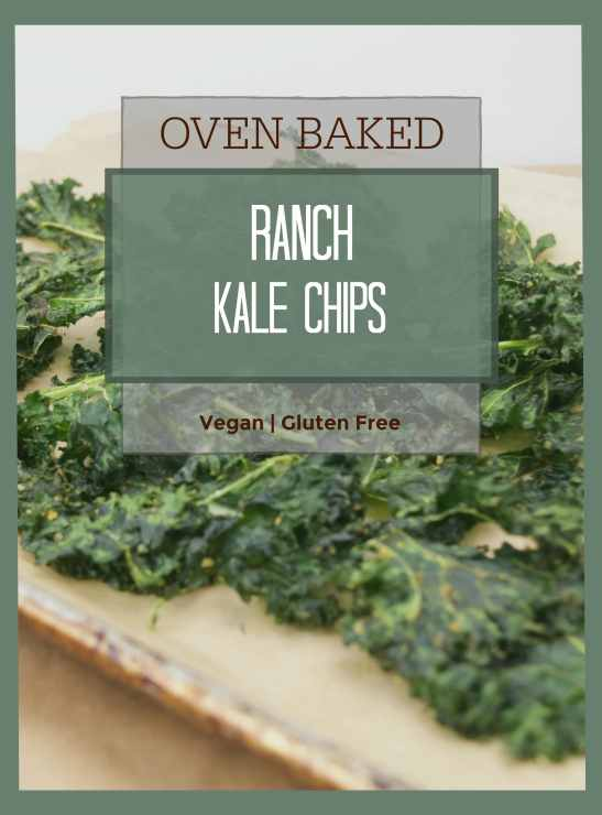 Ranch kale chips with text