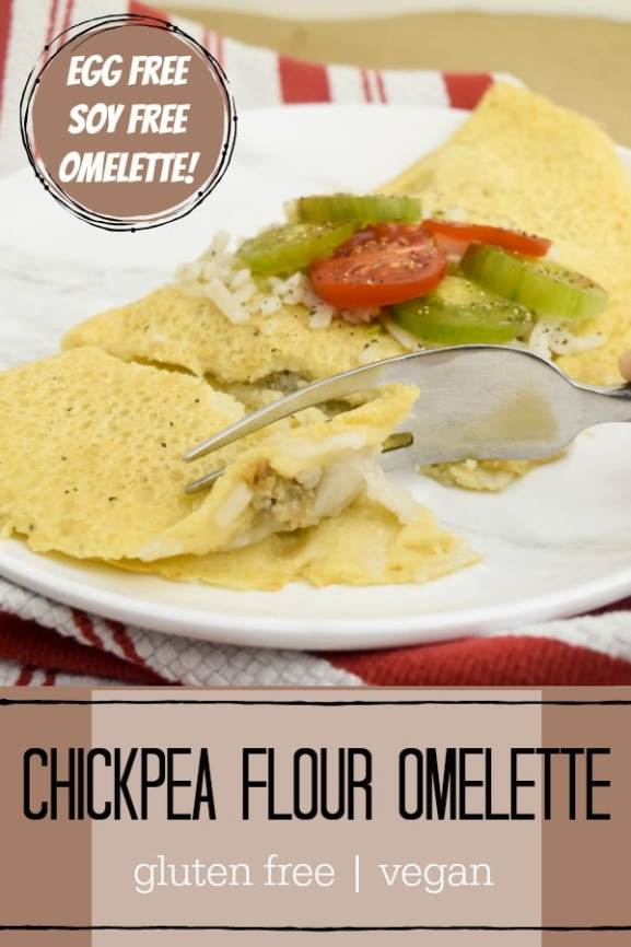 chickpea flour omelette photo with text