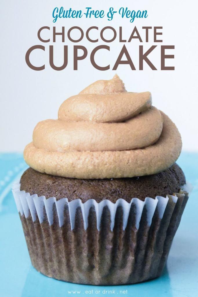 gluten free vegan chocolate cupcake chocolate frosting