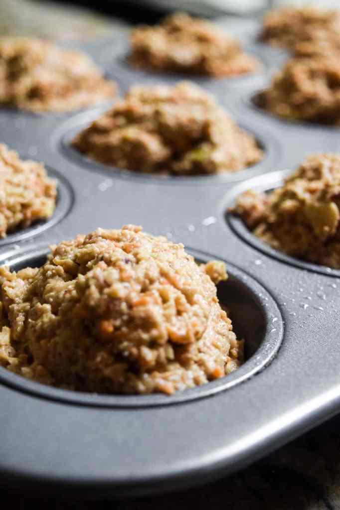 healthy gluten free dairy free muffin batter