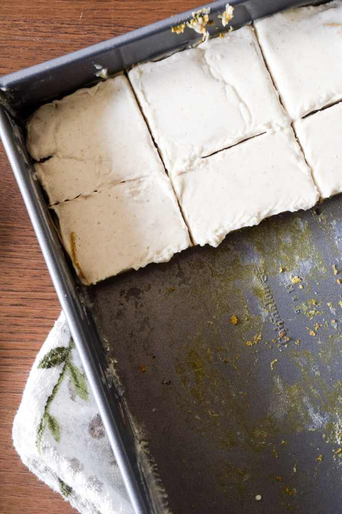 gluten free pumpkin bars with cream cheese frosting