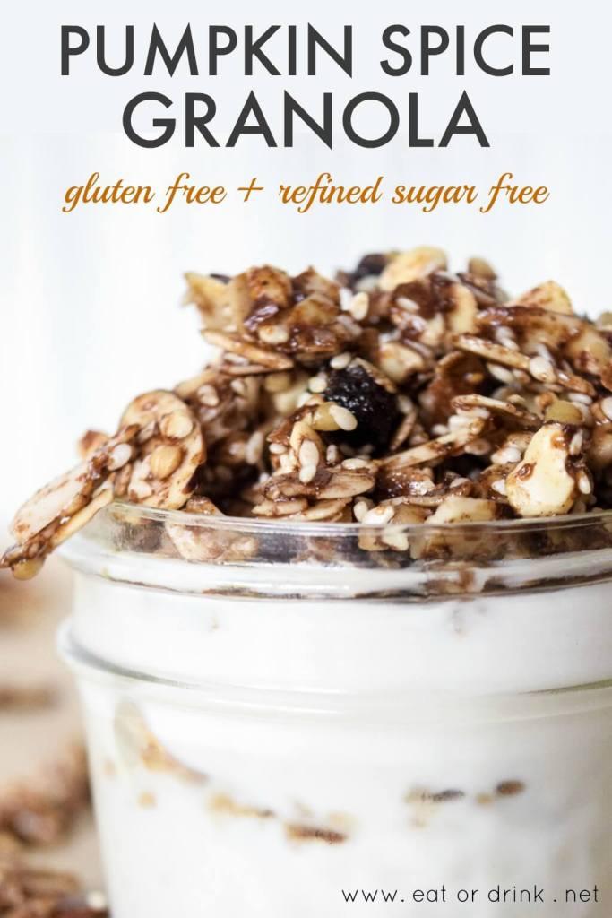 refined sugar free pumpkin spice granola