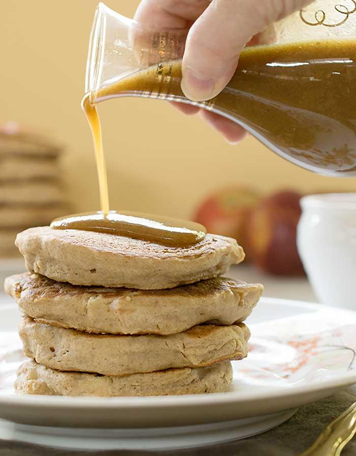 gluten free vegan teff apple pancakes recipe