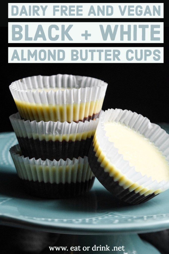 vegan black and white almond butter cupsvegan black and white almond butter cups