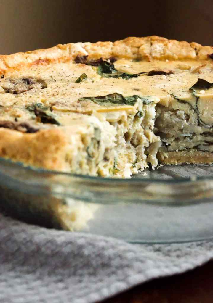 easy and tasty vegan quiche recipe