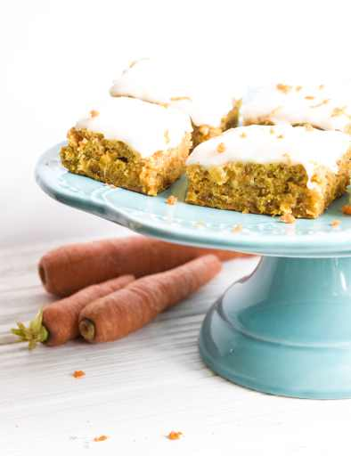 vegan carrot cake bars recipe