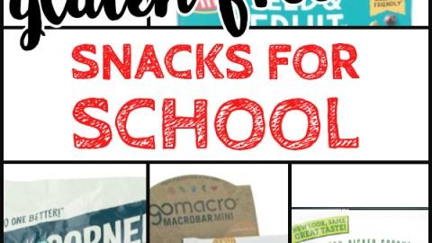 gluten free back to school snacks