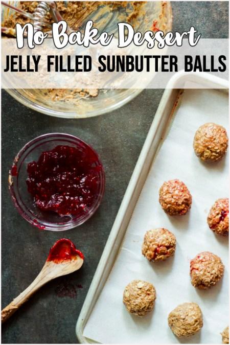 sunbutter jelly balls no bake dessert