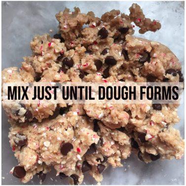 mix just until dough forms