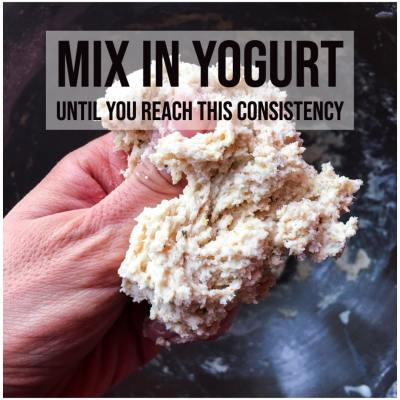 step 2- mix dry with yogurt-min