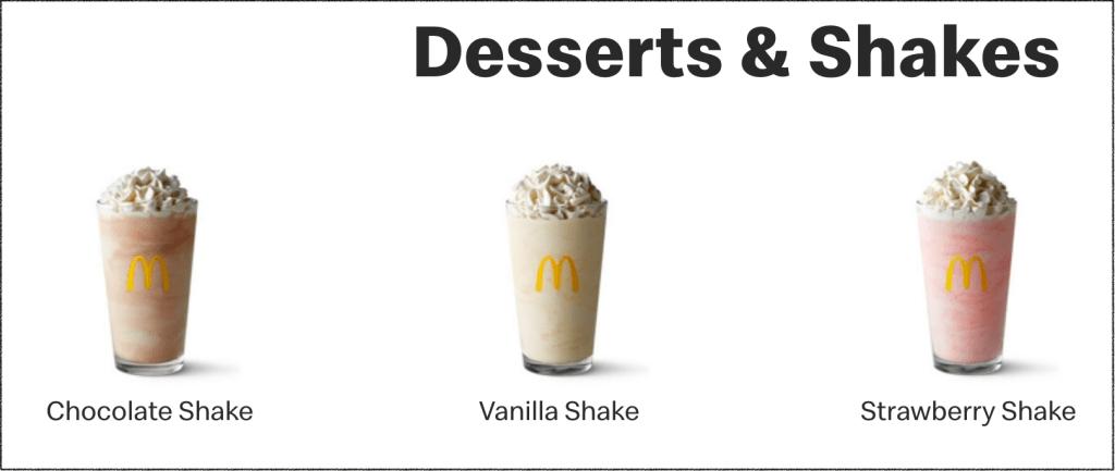 gluten free desserts at mcdonalds
