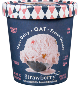 non dairy oat strawberry ice cream trader joes