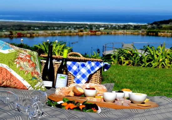 A picnic with a sea view at Cape Point Vineyards Restaurant. Photo supplied.