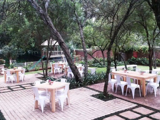 The outside area at Afro-boer. Photo supplied.