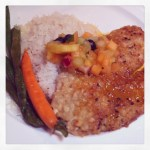 Macadamia Nut Crusted Yellowtail Snapper