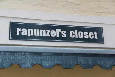 Rapunzels Closet Sign