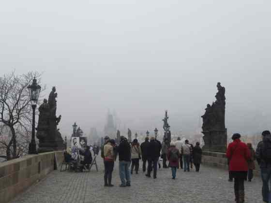 Crowds on the Charles Bridge