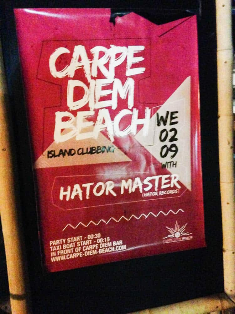 Carpe Diem is the best known place to party in Hvar